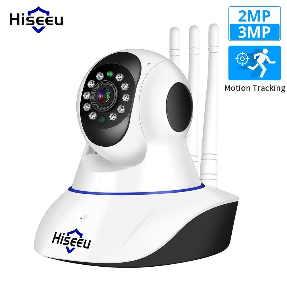 Hiseeu FHD1 Home Security 3MP WIFI Audio Record P2P HD 1536p Wireless Surveillance Camera (white)