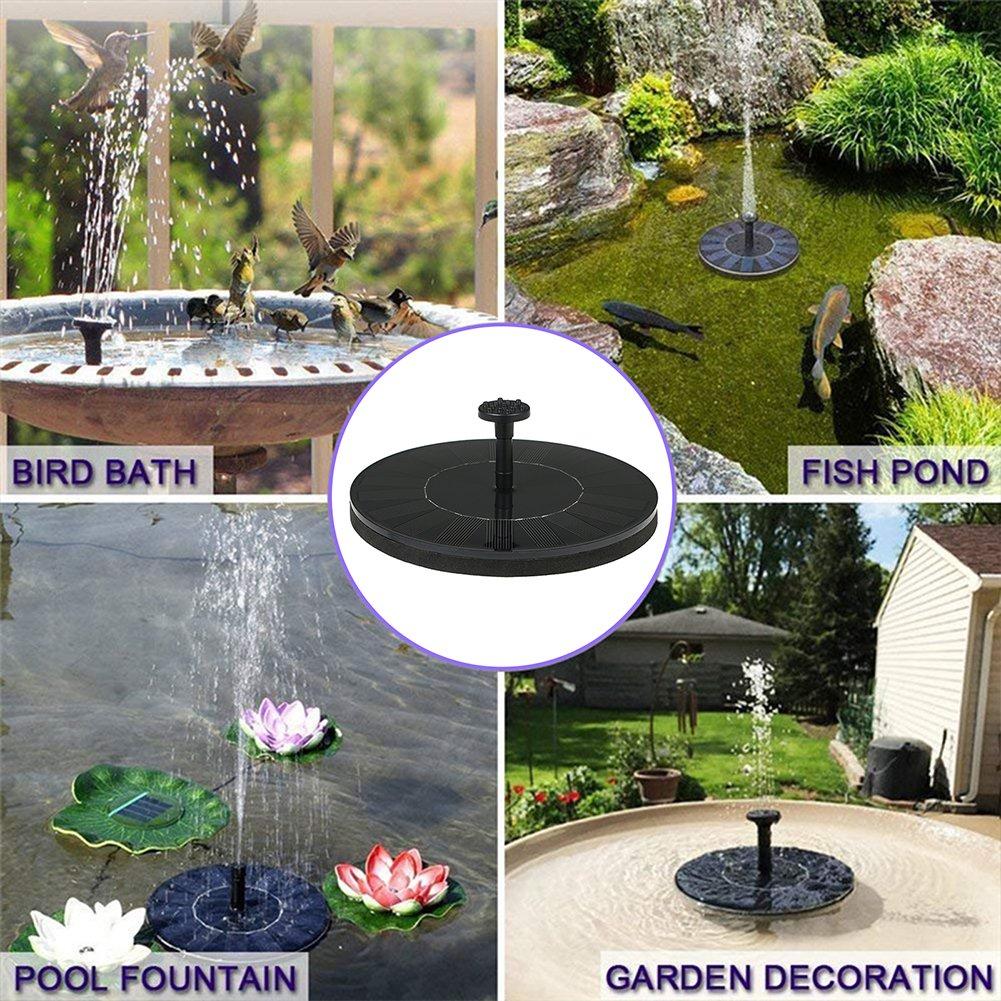 2.8W Solar powered  Water Fountain  Pump for Bird Bath 1200 mAh battery