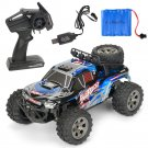 MGRC Mini RC Car 1/18 Brush Crawler 2.4G/ 4CH/ 2WD High- Speed 20kph Kids Toy (blue)