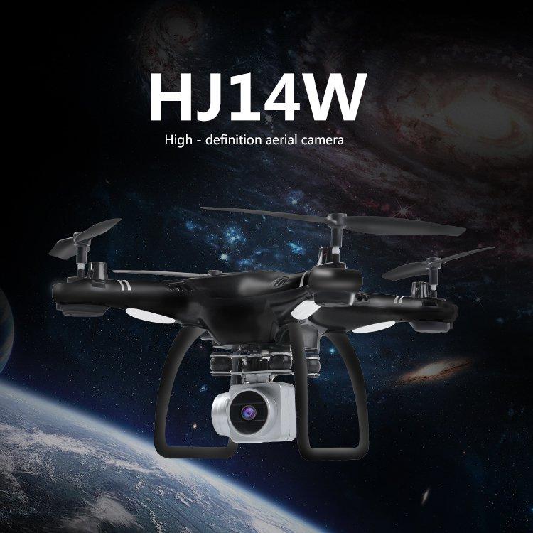 HJ14W Wi-Fi Remote Control Aerial Photography HD Camera Drone with 200W camera (black)
