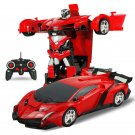 Robot Transformation RC Electric Car 1-Key Deformation + Remote Controller K86C (Red)