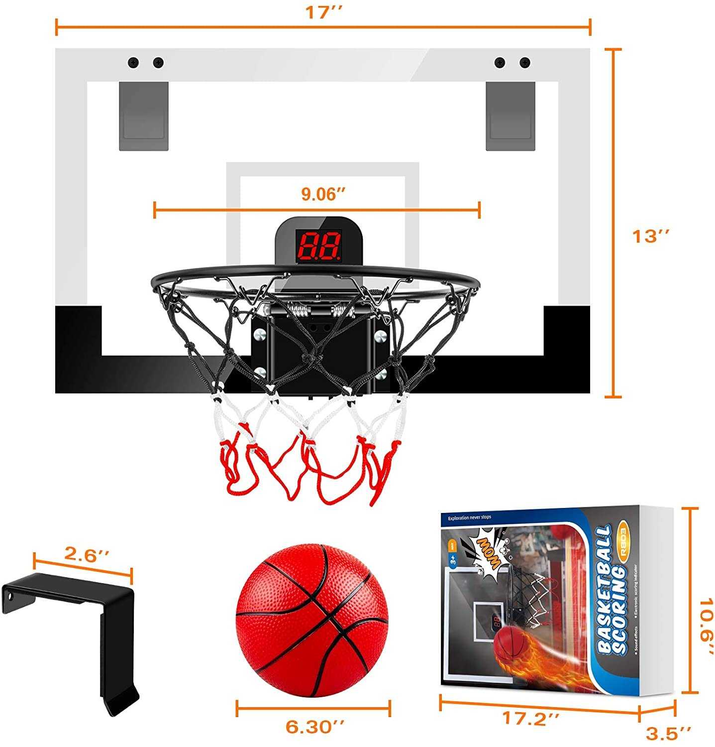 Children's Basketball Toys Hanging Punch-free Automatic Scoring Basketball Board Indoor Toy