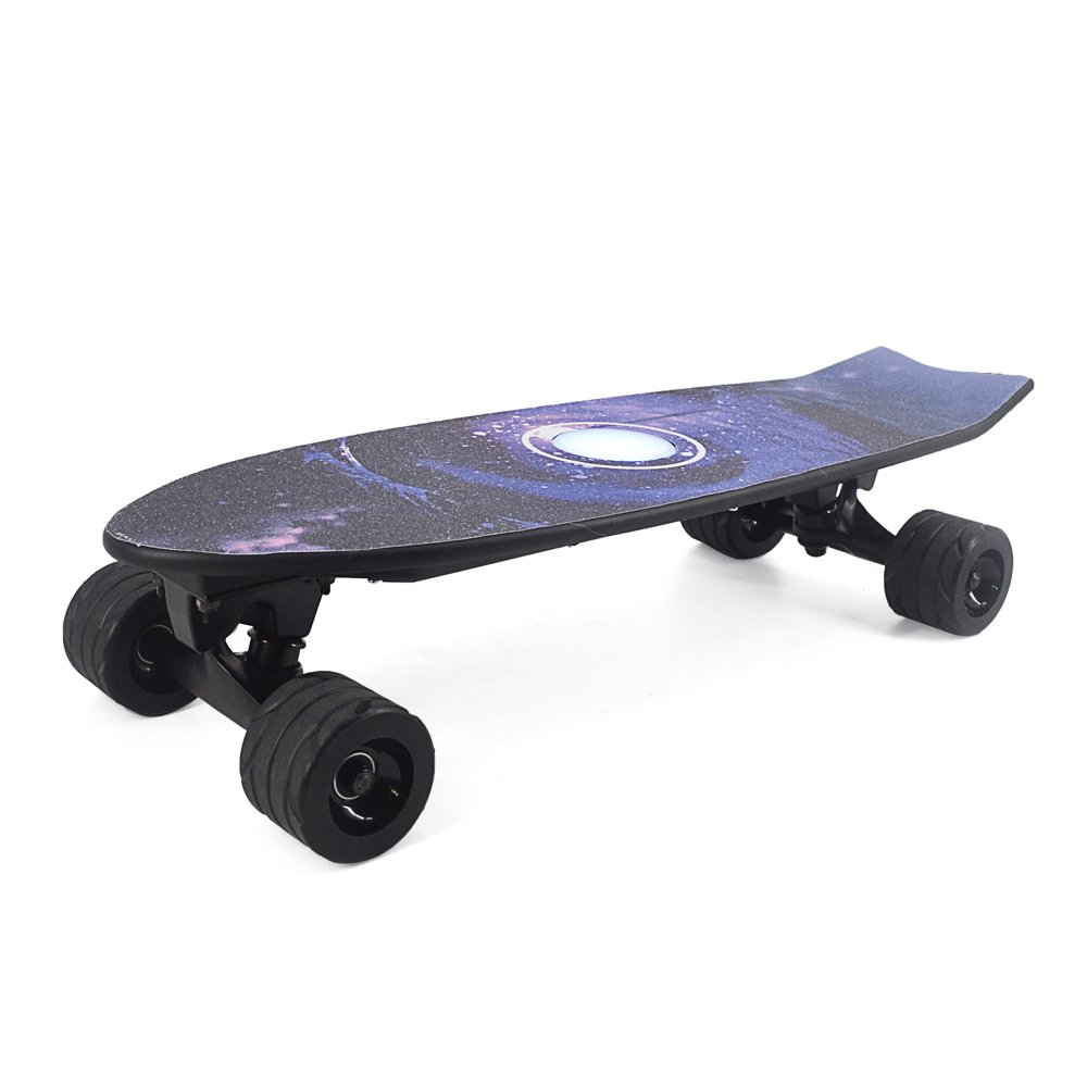 Electric Skateboard Four Wheels Integrated Design With Light + Remote Control