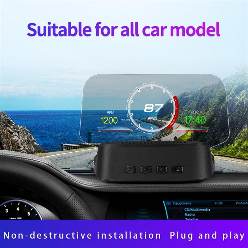 Universal Car-loaded Heads-Up Display HUD Portable OBD GPS Navigation Projector (Black)