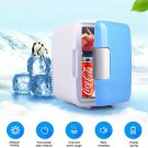 4L Car Refrigerator Automobile Mini Fridge Refrigerator Freezer (Blue)