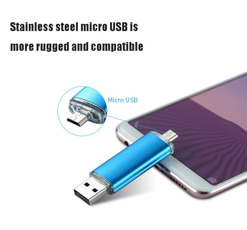 Stainless Steel micro USB Android Smartphone Flash Drive OTG Computer Dual-Use U-disk