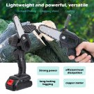 4-inch Mini Pruning Electric Chainsaw For Fruit Tree Garden Trimming (black)
