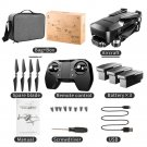 K1-Pro GPS Professional 2-axis Gimbal Camera 90 Deg Adj Drone KF107 Long Distance Pkg 3 batteries
