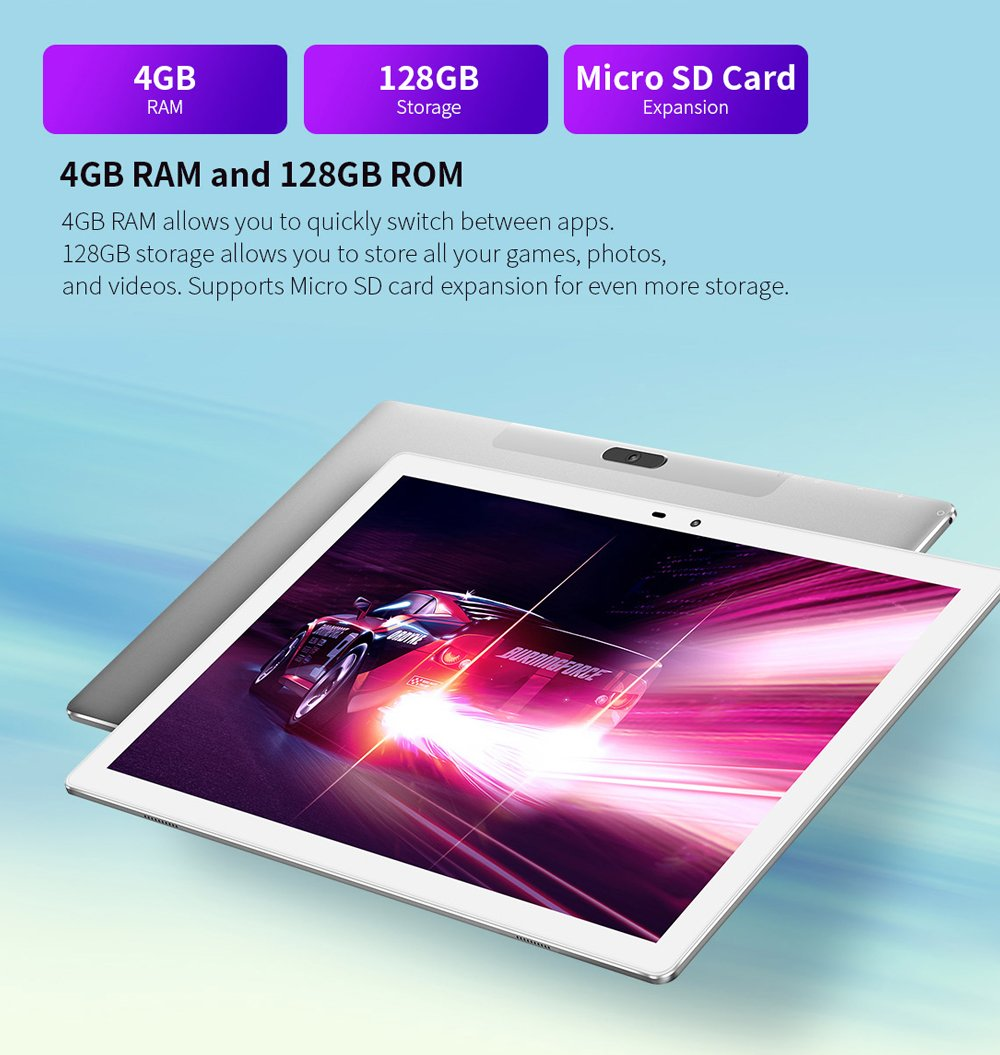 M30 Pro 10.1-inch Android 4G Network Tablet PC 1920x1200 HD Resolution IPS Display 4GB+128GB