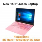 NEW! 15.6-inch Intel Celeron J3455 Pink Notebook PC 8GB+512GB+Fingerprint Unlocking