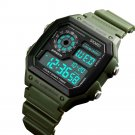 SKMEI Military Style Waterproof Luminous Outdoor Sport Digital Watch (Olive Green)