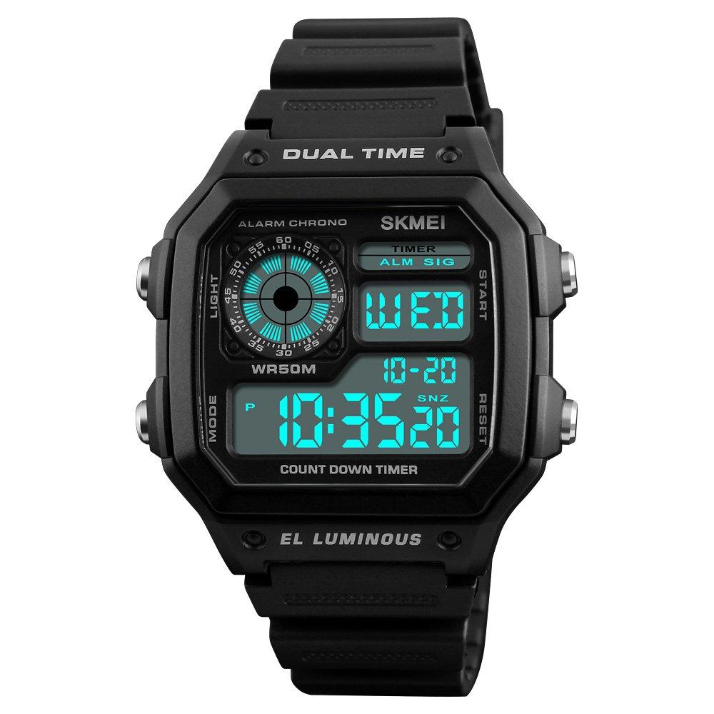 SKMEI Men's Multifunction Waterproof Outdoor Sport Digital Watch (Black)