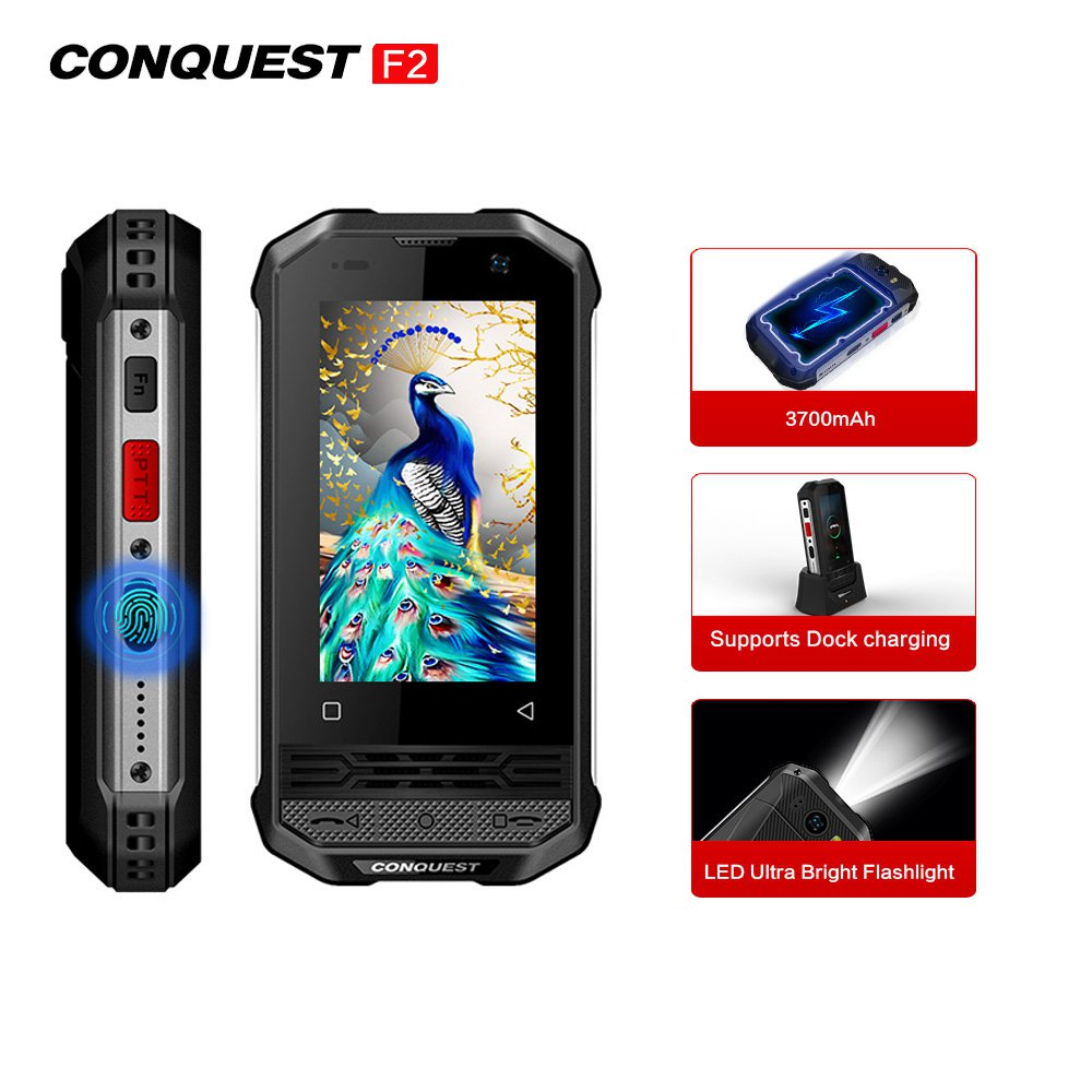 Conquest F2 Luxury Version Mini Rugged Android Smartphone 3GB+32GB Deluxe Edition