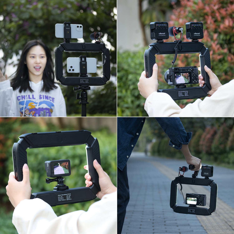 Ulanzi U200 Camera Ring Light Video Rig DSLR Smartphone Handle Grip(black)
