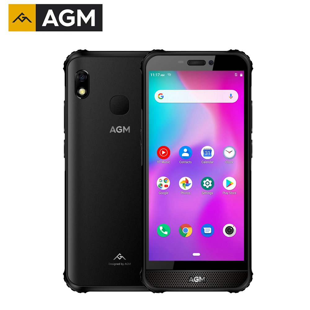 AGM A10 5.7-inch Rugged Android Smartphone 4GB+128GB Large Front-placed speakers(Black)