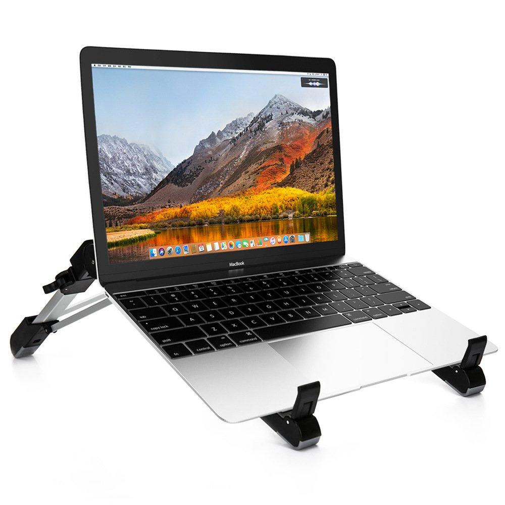 Folding Aluminum Alloy Vertical Laptop Stand (black)
