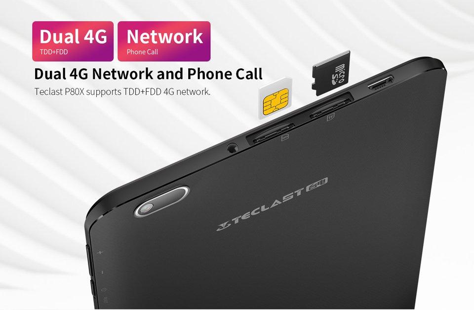 Teclast P80x 8-inch Android Tablet PC 2GB+ 32GB European Plug (Black)