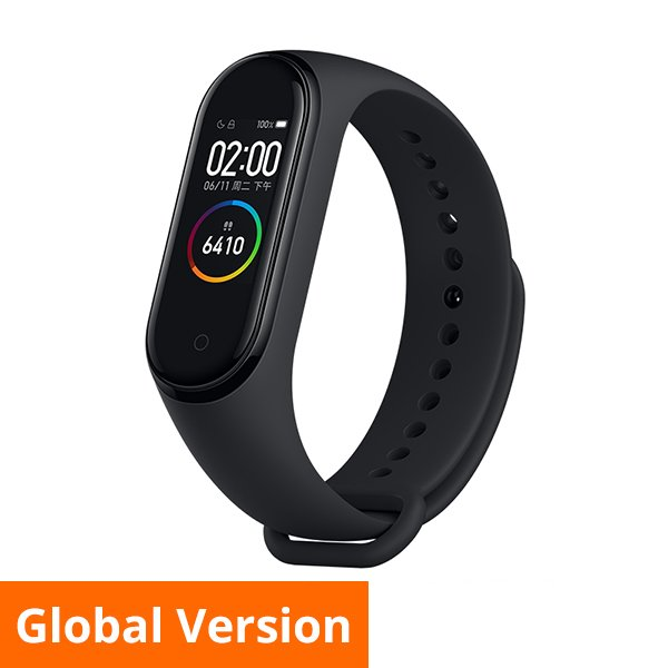 XIAOMI Mi Band 4 Global Version 0.95-inch Android Smartband (black)