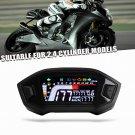 Motorcycle LCD Colors Display Odometer Water Temperature Speedometer (black)