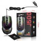 HXSJ J500  Display Wired Macro Programming Gaming Mouse