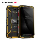 Unlocked Conquest S11 Rugged 4G Android Smartphone 6GB + 128GB (Yellow)