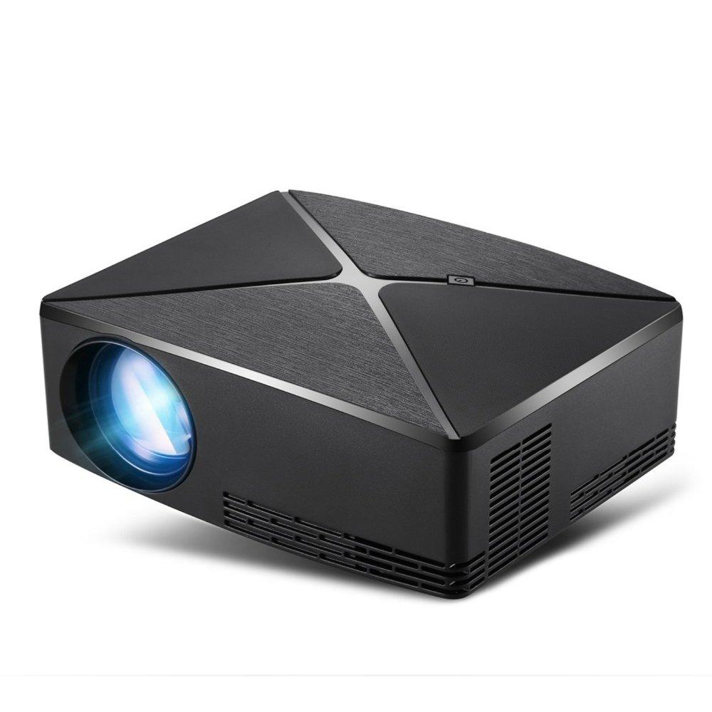 C80UP LED 720P  Android Projector Movie Beamer (black) EU Plug