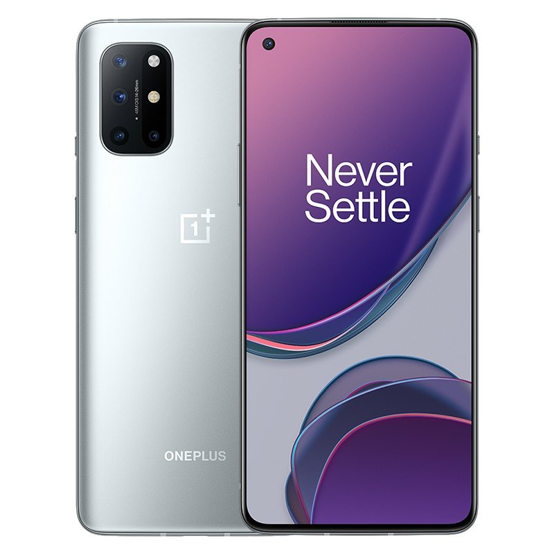 New, Unlocked OnePlus 8T 8GB + 128GB Global Rom  Android Smartphone (Silver)