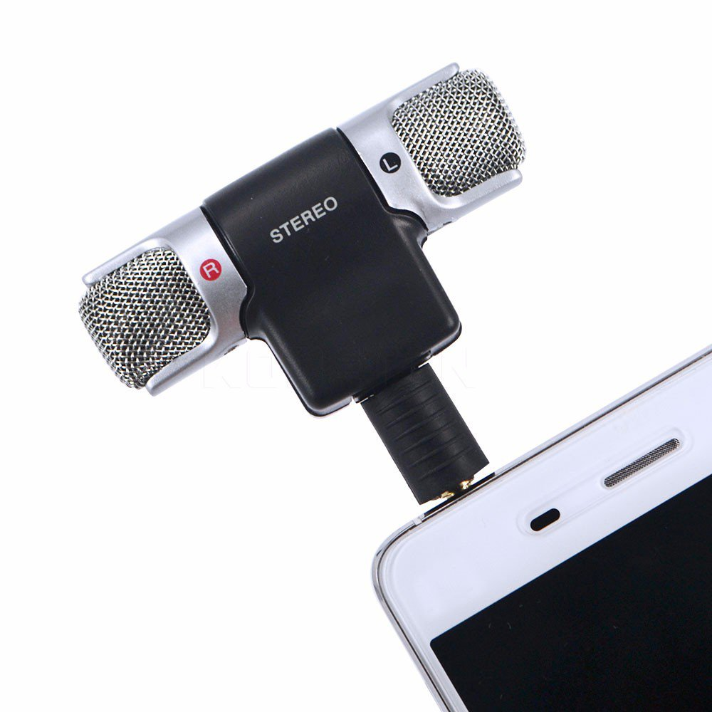 Sony 3.5mm Audio Stereo Microphone Stereo Voice Recorder For Phone or Studio Interviews (black)