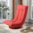 360 Degrees Rotating Folding Floor Gaming Chair (Orange)