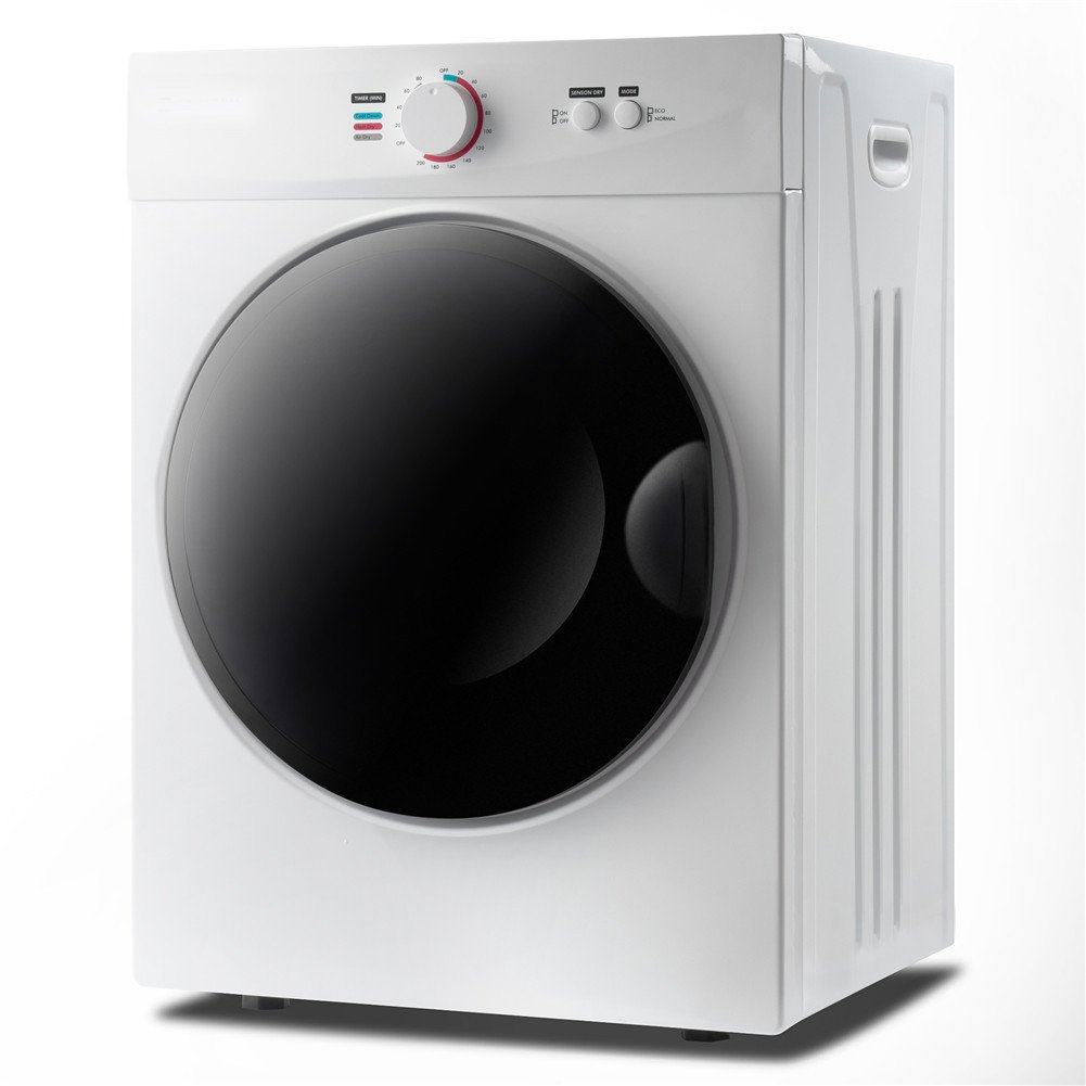 Portable Laundry Dryer With 5 Modes Control Knob For Home, Dorm or RV (white)