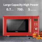 Zokop B20uxp52 Retro Microwave Oven With Golden Handle 120v 700w 20l/0.7cu.ft (red)