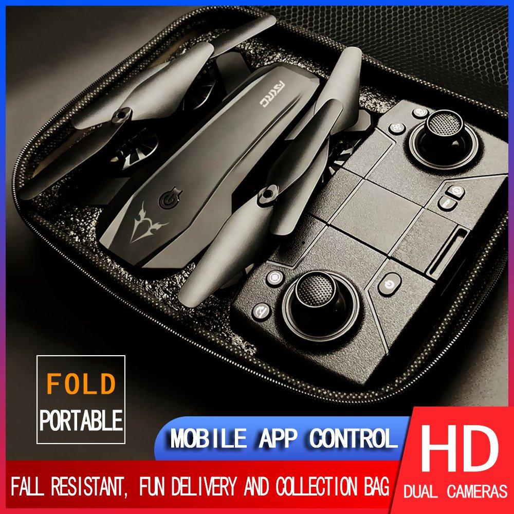 S80 2.4g Black Orange Drone 4K dual camera switch