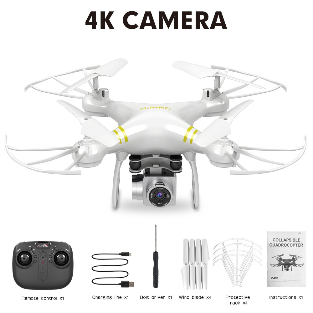 HJ101 Wifi Camera Air Pressure Fixed Height Face Recognition Drone 4K+ face recognition (White)