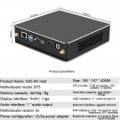 G45 Mini PC i3- 2120 4GB + 128GB Full Cooper Turbo Cooler (ABS Black)
