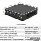 G45 Mini PC i5-3740 4GB + 128GB Full Cooper Turbo Cooler (ABS Black)