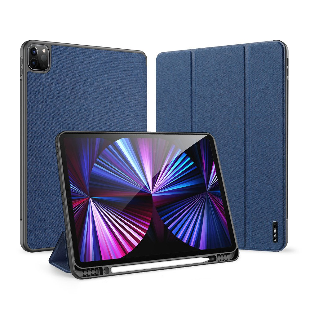 Tablet Case Cover With Pen Tray For Ipad Pro 12.9 2021 (Royal blue)