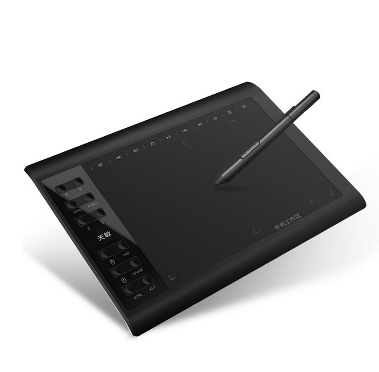 10moons G10 Professional Graphics Drawing Tablet (black)