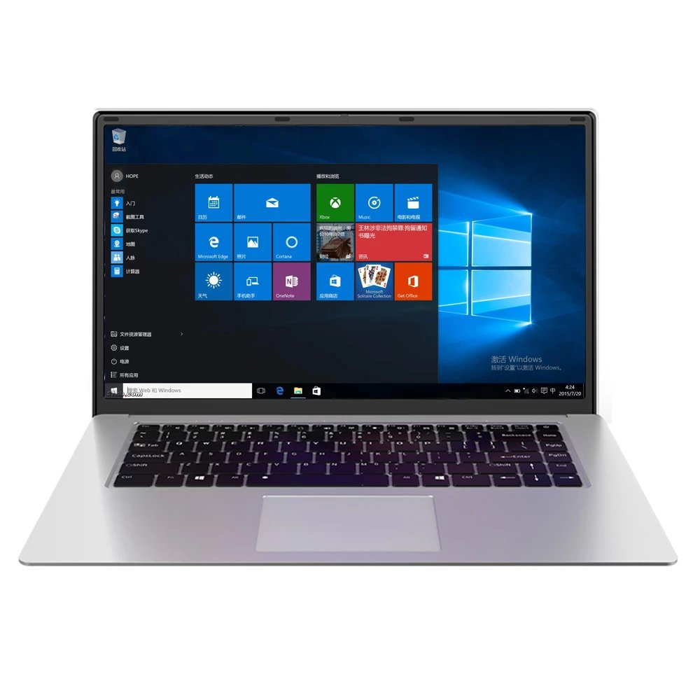 15.6-inch Intel J3455 Windows 10 Ultrabook Laptop PC 8GB+128GB (Silver)