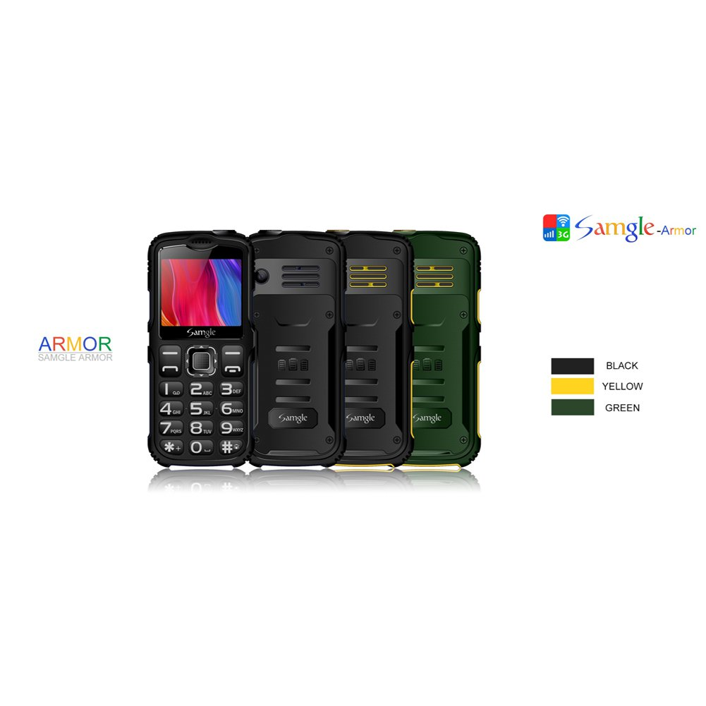 New Unlocked Armor S3 Big Button Mobile Phone for Seniors (Yellow)
