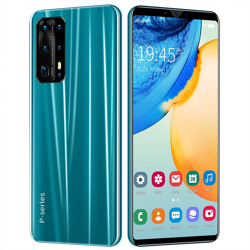 New Unlocked 5.8-inch P43 Android Facial Recognition Smartphone 512MB+4GB 16MP+32MP Cameras (green)