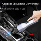 Cordless Mini Car Vacuum Cleaner with LED Light for Car Interior (silver)
