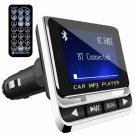 Car Bluetooth FM Transmitter MP3 Player with USB Charger+ Remote Control + Hands-free Calls (black)