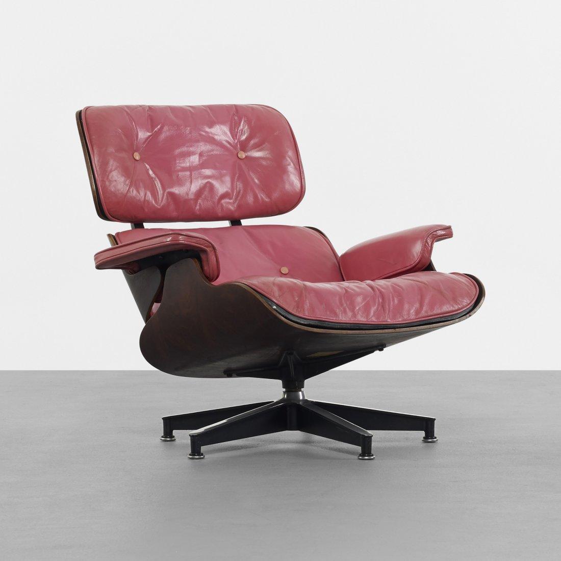 Rare Pink Leather Eames Herman MIller Recliner