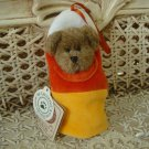 BOYDS BABY C CORN BEAR DRESSED AS A CANDY CORN HALLOWEEN **NEW STORE STOCK**