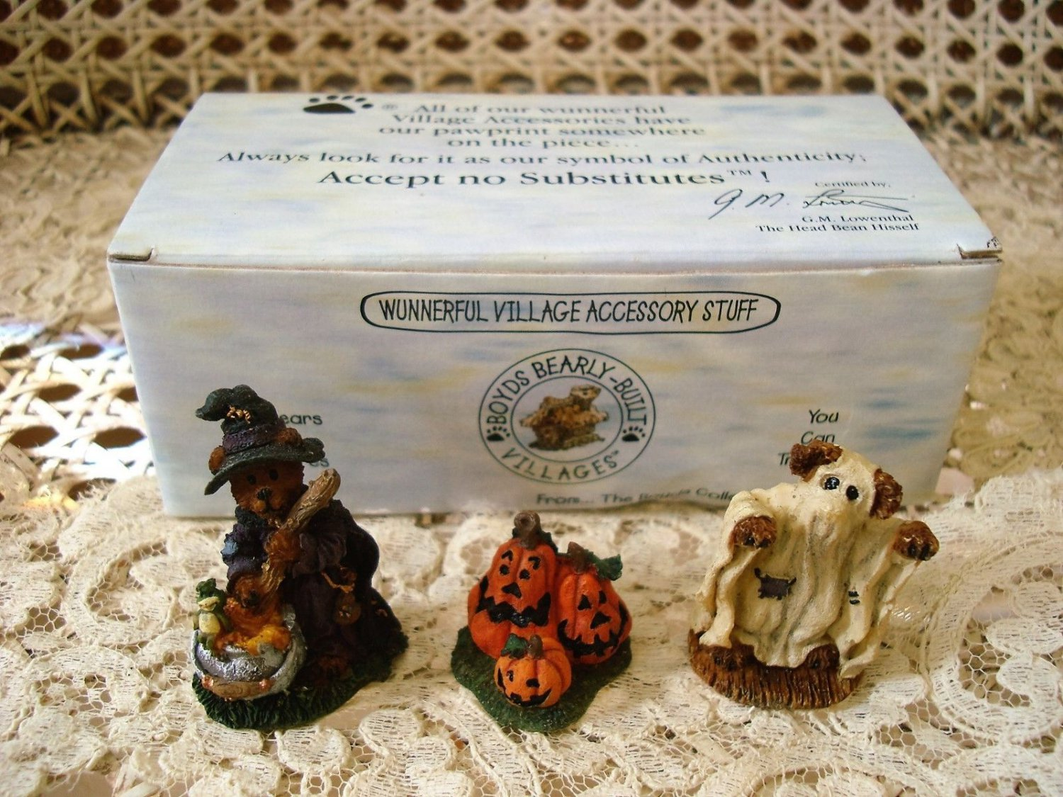 BOYDS PUNKY BOOBEARS HALLOWEEN HAUNTED HOUSE VILLAGE ACCESSORIES *NEW IN BOX*