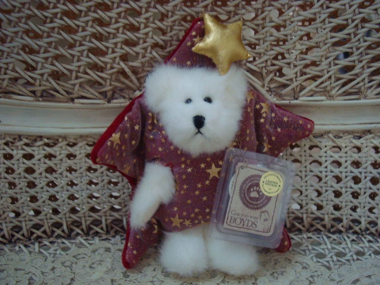 "BOYDS TWINKLES STAR 6"" LONGABERGER EXCLUSIVE PEEKER BEAR  *NEW STORE STOCK*"