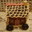 BOYDS GINGERBEARY TUG ALONG RESIN GINGERBREAD HOUSE ON WHEELS *NEW STORE STOCK*
