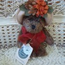 """BOYDS PETULA 6"""" 2000 SHOW EXCLUSIVE BEAR WITH FLOWERS ON HAT**NEW STORE STOCK**"""