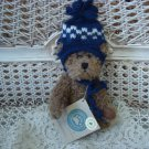 "BOYDS BORIS BERRIMAN 6"" RETIRED BEAR WITH NAVY BLUE CUTE HAT **NEW STORE STOCK**"