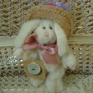 """BOYDS GISELLE DE LA FLEUR 6"""" TALL BUNNY WITH STRAW HAT  ***NEW STORE STOCK**"""
